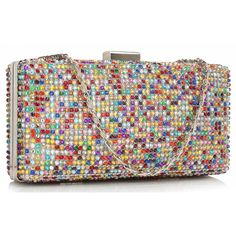 Geanta plic multicolora Helen Wow Products, Glitter, Rainbow, Crystals, Stone, Clutch Bags, Color, Chic, Rain Bow