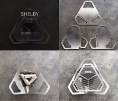 The SHELBY firepit by Aesh Design. A portable, flat-pack, durable fire pit + grill www.aeshdesign.com
