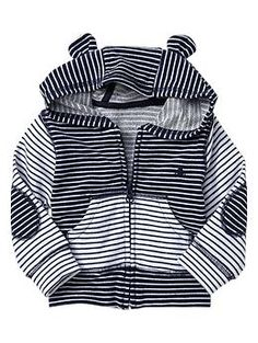 striped bear hoodie. you can never have too many stripes and your boy can never go metro too early.