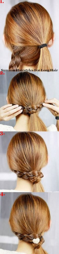 Summer hairstyles for long hair.