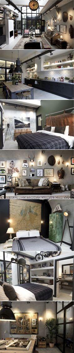 The garage loft of James van der Velden, Bricks Amsterdam | My favorite lofts by Lins Black Book of Ideas