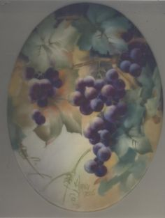 Grapes by Vicky Hand China Painting Study 2005 | eBay