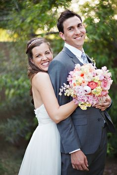 A Sweet & Relaxed, Shabby Chic Backyard Wedding by http://www.pinkertonphoto.com