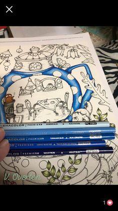 Coloring Book Art, Coloring Tips, Adult Coloring, Color Mixing Chart, Color Blending, Color Combos, Blue Color Pallet, Color Pallets, Colored Pencil Tutorial