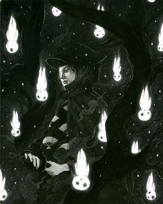 Raining spirits, studio ghibli Princess Mononoke Kodamas tree spirits Lady Iboshi