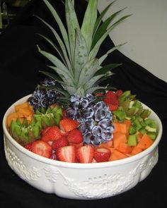 A lovely Fruit Salad created by ALACARTE CATERING for a recent Open House.  #food #wedding #atlantawedding #atlantacatering #foodideas #cateringideas #weddingideas #entertaining #fingerfoods #catering #atlantavenues #entertainment #partyideas #catering.....foodpresentation