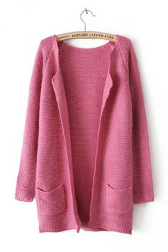Long Sleeve Loose Knitting Red Cardigan Sweater.#Cheap Sweaters #2014 outfit,sweaters for fall,sweaters #girls,#chic sweaters #womens,cute sweaters for teens,#cute sweaters with leggings,fashion #sexy sweaters #party,#ugy #christmas #sweater pinkqueen.com