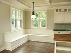 Built-in seating for the dining room