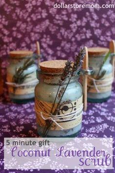 5 minute diy gift: coconut lavender scrub