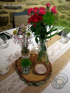 D coration table mariage campagne chic id es et d 39 inspiration sur le ma - Mariage campagne chic ...