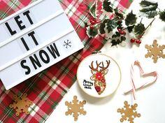 Deer DIY Embroidery Kit. Christmas Embroidery kit. Hand embroidery kit