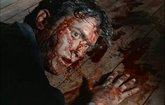 """THE EVIL DEAD (1981)  Ash: """"You b*****ds, why are you torturing me like this? Why?""""      Sam Raimi and friends created the world's first rock and roll fright film. Plots don't come much simpler - five friends travel to a cabin in the woods where they unknowingly release flesh-possessing demons - but the controversy it created resulted in the """"zombies make mincemeat of teens in the woods"""" shocker only finally being seen uncut by British horror fans in 2001."""