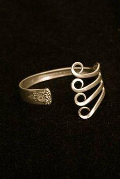 recycled silverware jewelry!