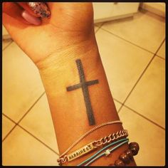 Cross Wrist Tattoo