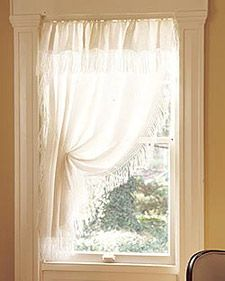 Diy Tablecloth Curtains Small Bathroom Window Lace