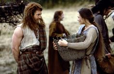 Mel Gibson and Catherine McCormack in Braveheart 1995