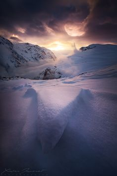 ~~Clearing storm ~ moment of calm during a bivouac on the highlands of Emparis, Oisans, Alps, France by Xavier Jamonet~~
