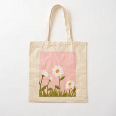 Sacs Tote Bags, Diy Tote Bag, Cute Tote Bags, Canvas Tote Bags, Painted Canvas Bags, Tods Bag, Kleidung Design, Summer Tote Bags, Embroidery Bags