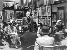 Walter Sickert at the Victoria Art Gallery, Bath in 1939 Camden London, Camden Town, East London, Paul Gauguin, Vincent Van Gogh, Walter Sickert, Victoria Art, Living In England, Artist At Work