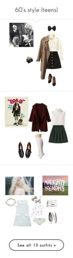 """60's style (teens)"" by littlesweetheart123 ❤ liked on Polyvore featuring H&M, AG Adriano Goldschmied, Burberry, AmeriLeather, Forever 21, vintage, Étoile Isabel Marant, Sperry, Etienne Aigner and movie"