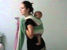 Nursing in a back carry Double Hammock Rebozo ~~~ wild!!! must try!