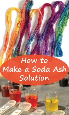 Cut down your prep time when dyeing fabric when you learn how to premix a soda ash solution.