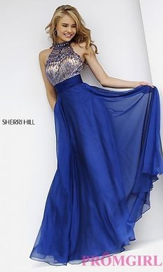 Floor Length High Neck Gown 1970 by Sherri Hill at PromGirl.com