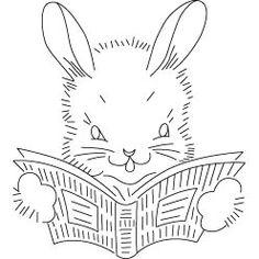Pattern Detail | Bunny Reading | Needlecrafter