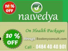 20% off on Health Packages booked through Bookmyconsult.com at Naivedya Ayurveda Hospital