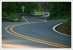 Dragon's Tail, NC. 318 hairpin turns in 11 miles!