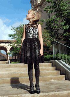 Fiveloaves Twofish Stunning Black lace Mozart Dress 6 12