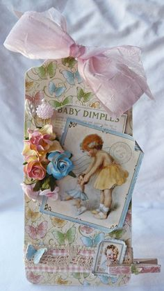 A simply stunning Little Darlings tag by @Gloria Stengel! So many beautiful details on this tag! #graphic45 #tags