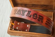 Custom Leather Dog Collar   XL tooled personalized by MesaDreams, $45.00