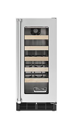 Viking Professional 5 Series 15 Inch Undercounter Wine Storage with 5 Full Extension Shelves, 24 Wine Bottle Capacity, Forced Air Cooling System, Stainless Steel Construction, LED Lighting and Sabbath Mode Bath Remodel, Kitchen Remodel, Kitchen Reno, Kitchen Ideas, Viking Appliances, Kitchen Appliances, Wine Coolers Drinks, Viking Range, Home Goods Decor