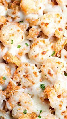 Easy Italian Shrimp Tortellini Bake