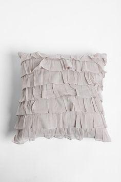 Waterfall Ruffle Pillow  #UrbanOutfitters
