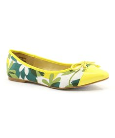 Green & Yellow Floral Barbara Ballet Flat add to my favorites