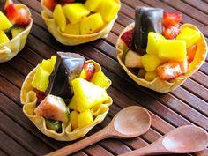 salada de frutas na cestinha gourmet