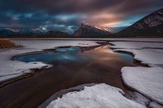 Epic sunset at Vermilion lake, Banff National Park. I just love the layers of the ice/snow before the lake is fully frozen. Hope can capture a good sunrise photo from here soon.