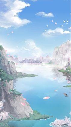 # 奇迹 暖暖 # # China 3 Chinese server ((All Versions)) - # Anime Backgrounds Wallpapers, Anime Scenery Wallpaper, Pretty Wallpapers, Fantasy Art Landscapes, Fantasy Landscape, Landscape Art, Arte 8 Bits, Casa Anime, Episode Interactive Backgrounds