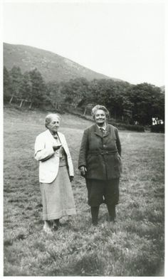 May Morris & Mary Francis Lobb......quite a bit about them from the Morris Society. A Cornish Landgirl, Lobb was Miss Morris' companion ww1 until her death. Died within months of each other. One site say there is a display at Kelmscott on MFLobb. Can't Pin other photo. Definitly butch, GBShaw call her androgynous, Blackwell? writes hermaphrodite,  the labels used by upperclass.