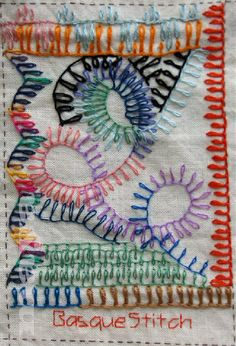 I ❤ embroidery . . . TAST Basque Stitch ~By Maya Matthew