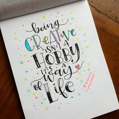 This Is Life In Colour Calligraphy Typography Lettering Quote