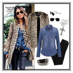 Leopard & Denim by silvanasagan on Polyvore featuring LIU•JO, Forever New, American Eagle Outfitters, Calvin Klein, womensFashion, falloutfit, DenimStyle and LeopardAndDenim