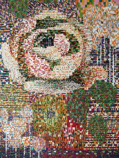 Jacquard, a Collaged Work 2011   Jacquard, kollaasityö 2011   Teija Puranen