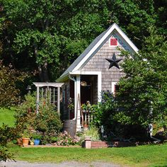 garden shed -- build it a bit bigger and have a lovely tiny house