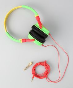 Take a look at this chicBuds Green & Yellow Headphones by Plugged In: Tech Accessories on #zulily today!