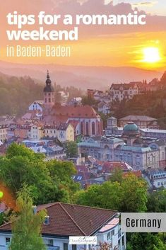 Looking for a romantic getaway to Baden-Baden, Germany? We're sharing travel tips for the Belle Epoque spa town of Baden-Baden Germany, including how and where to enjoy the spas, museums, cultural institutions in town, and how to find the best views of this beautiful city in the Black Forest. Europe Travel Tips, Travel Destinations, Baden Germany, European Destination, Park Hotel, English Countryside, Romantic Getaway, Black Forest, Belle Epoque