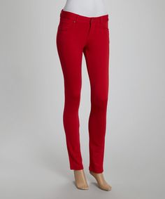 Another great find on #zulily! Red Jeggings by Poplooks #zulilyfinds