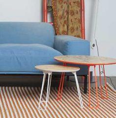 Table basse en métal et plateau en bois Fluor (2 coloris) Zuiver
